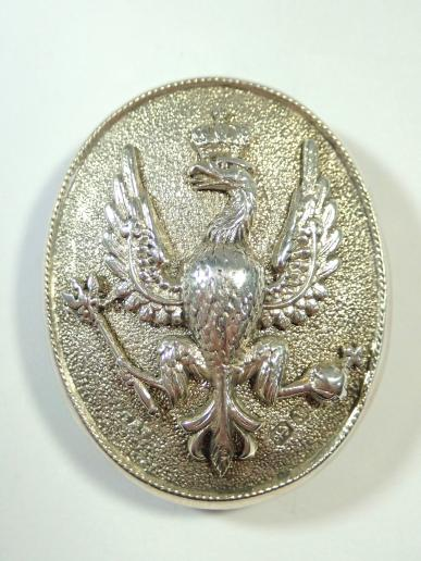 14th Kings Hussars Hallmarked (1891) Silver 2 Part NCO's Arm Badge.