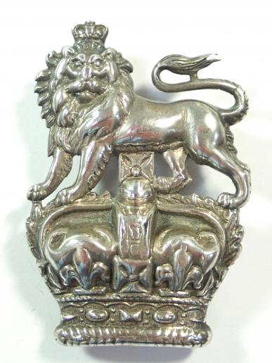 1st Royal Dragoons Victorian NCO's Hallmarked (1897) Silver Arm Badge.