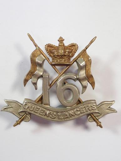 16th Queens Lancers Victorian Cap Badge.