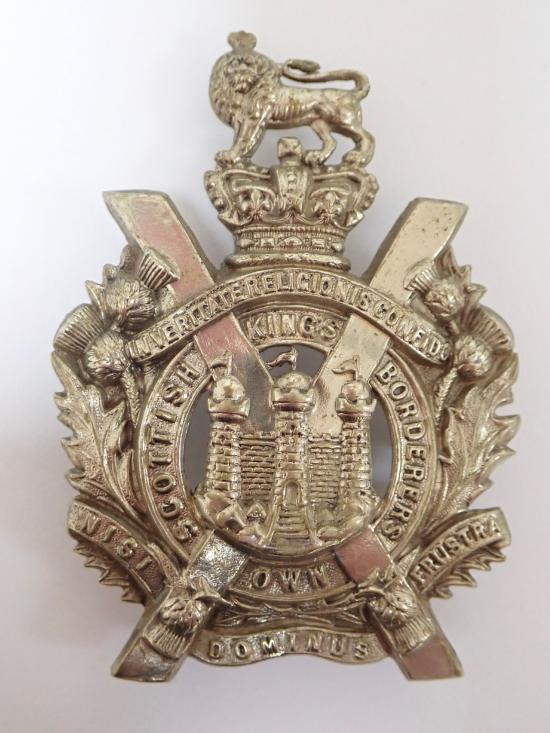 King's Own Scottish Borders Victorian Helmet Plate Centre (1884-1901).